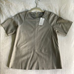 VINCE leather short sleeve